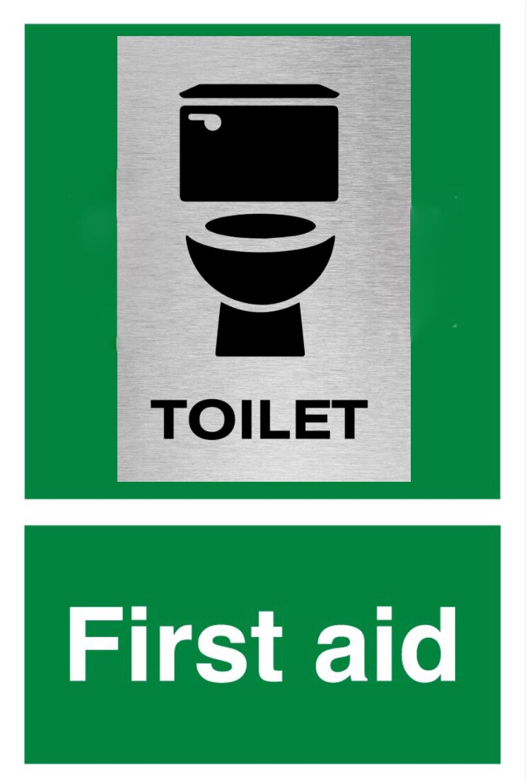 First aid room toilet